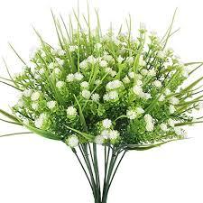 Artificial Flower Arrangements Artificial Flowers Houda 4pcs Faux Baby U0027s Breath Grass Fake