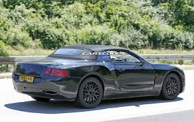 bentley dark green bentley spied testing all new 2018 continental gtc