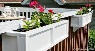deck railing planter boxes diy design and ideas