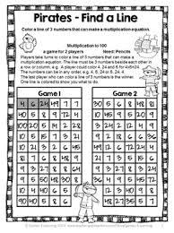 multiplication free no prep multiplication games teaching