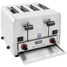 4 Slice Bread Toaster Waring Wct850 Heavy Duty Commercial Combination Switchable Bread