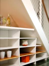 under stairs shelving storage organization solid wood stair shelves and cabinet ideas