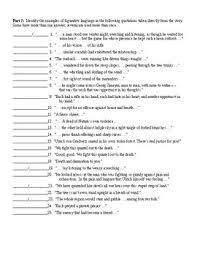 the interlopers by saki figurative language worksheet u0026 key tpt