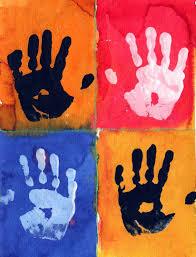 Cool Art Project Ideas by Warhol Hand Prints Warhol