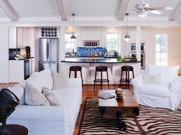 Awesome Beach House Decorating Ideas Using White Sofa Also Brown