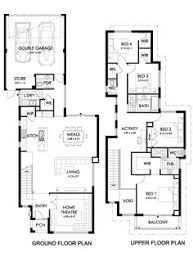 Narrow Block Floor Plans Narrow Block Home Designs Construction Styles World Dream House