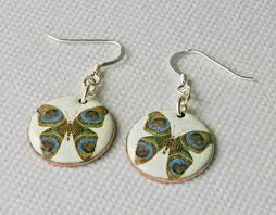 feather butterfly earrings