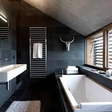 Two Tone Bathroom Bathroom White And Metallic Details In A Darj Grat Bathroom Two