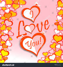 valentine s day valentines day card saying love you stock vector 361113371