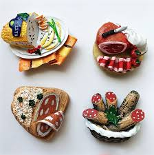 simulation 3d cuisine simulation food bacon sausage ham 3d fridge magnets high