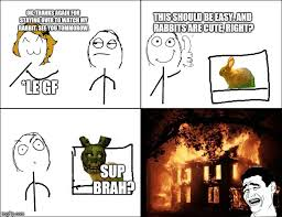 Memes Rage Comics - creepy rabbit rage imgflip