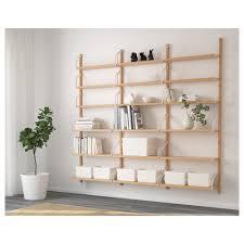 svalnäs wall mounted shelf combination ikea