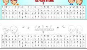 lettere straniere in corsivo maiuscolo e minuscolo scheda alfabeto tratteggiato gabryportal