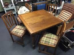 antique draw leaf table antique barley twist draw leaf english pub table 4 chairs ebay