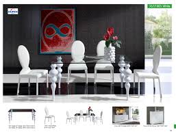 White Dining Room Set Dining Room Modern White Chairs Leather Talkfremont