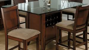 glass dining room sets dining glass round dining table on top with metal legs and black