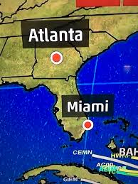 Weather Map Atlanta by The Weather Channel Is Struggling With The Location Of Atlanta