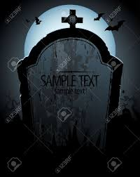 halloween background with tomb and place for text royalty free