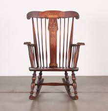 Antique Pressed Back Rocking Chair Robert Mitchell Antique Rocking Chair With Marquetry And Mother Of