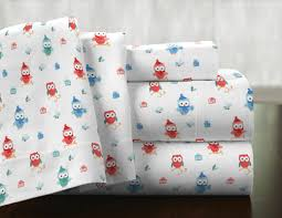 Owl Canisters by Pointehaven Owl 100 Cotton Flannel Sheet Set U0026 Reviews Wayfair