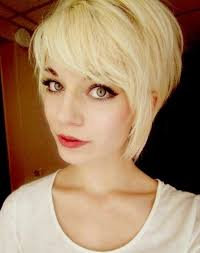 long blonde hairstyles with side bangs women medium haircut