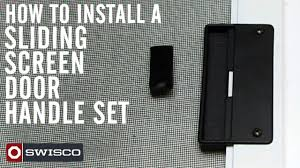 Patio Screen Doors How To Install The 83 002 Sliding Screen Door Handle Set