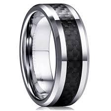 carbon wedding band king will gentleman 8mm black carbon fiber tungsten carbide