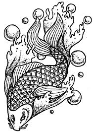 animal coloring pages for adults koi fish coloringstar