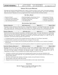 Resumes For Management Positions Restaurant Resume Samples Resume Cv Cover Letter Examples To