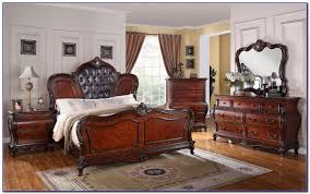 Bedroom Set With Leather Headboard Leather Headboard King Size Bedroom Set Bedroom Home Design