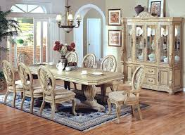 antique white dining room table and chairs modern formal set in