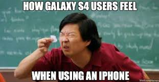 Samsung Meme - iphone vs samsung meme how samsung galaxy s4 users computer