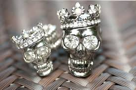 skull wedding ring sets thegtalife wedding ideas january 2015