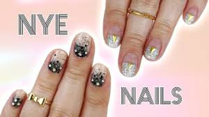 new year u0027s eve nails 2 easy designs for short nails youtube