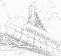 eiffel tower paris france pencil sketch le tour eiffel
