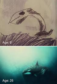 15 before u0026 after drawings show artist u0027s progress