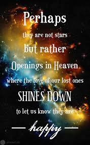 perhaps they are not but rather openings in heaven where the
