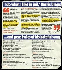 rolf harris u0027s vile jail song revealed in letter from stafford