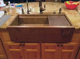 Drop In Farmhouse Kitchen Sink Copper Top Mount Drop In Farmhouse Workstation Sink By Rachiele