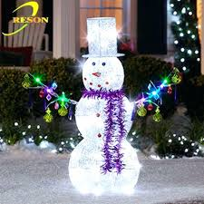 outdoor snowman decorations outdoor decoration lighted metal snowman