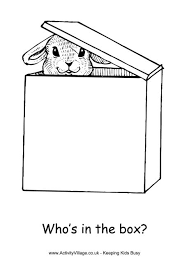Easter Box Colouring Page Box Coloring Pages