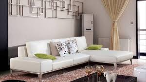 Leather Sofa With Pillows by White Leather Furniture Youtube