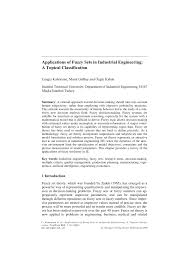applications of fuzzy sets in industrial engineering a topical