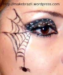 Make Up For Halloween Make Up Tutorial U2013 Spider Web For Halloween Spider Webs Spider