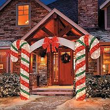 Outdoor Christmas Ornaments Lighted by Outdoor Christmas Decorations Candy Cane Arch Lighted Outdoor