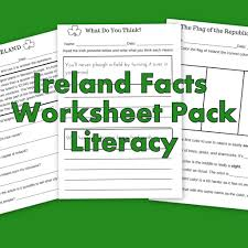 Color Of Irish Flag Ireland Facts Literacy Worksheets Let U0027s Learn About Ireland