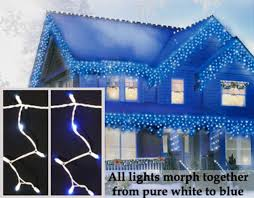 set of 100 led blue white color changing wide