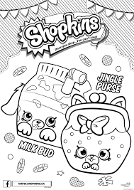 shopkins petkins 4 seasons jungle purse and milk bud coloring