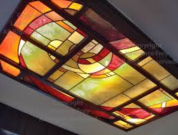 Stained Glass Ceiling Light Stained Glass Ceiling Panel Light