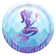 mermaid party supplies mermaids the sea party supplies dinner plates